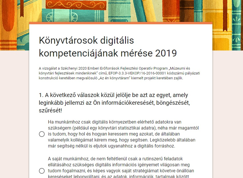 Könyvtárosok digitális kompetenciájának mérése 2019
